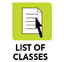 list of classes